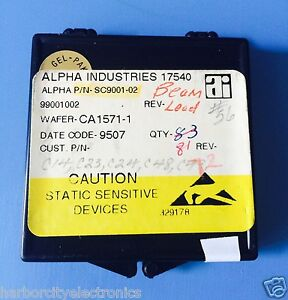 Sc9001 02 Alpha Industries Capacitor Chip Rf Microwave Product 72 units Total
