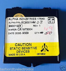 Sc9001hm Alpha Industries Capacitor Chip Rf Microwave Product 49 units Total