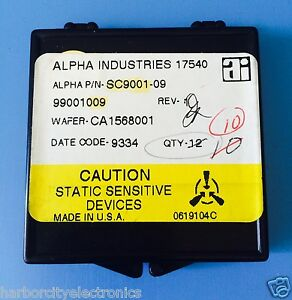 Sc9001 09 Alpha Industries Capacitor Chip Rf Microwave Product 10 units Total