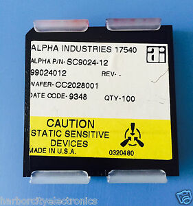 Sc9024 12 Alpha Industries Capacitor Chip Rf Microwave Product 100 units Total