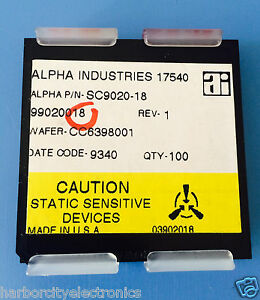 Sc9020 18 Alpha Industries Capacitor Chip Rf Microwave Product 100 units Total