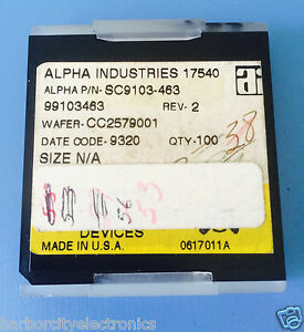 Sc9103 463 Alpha Industries Capacitor Chip Rf Microwave Product 53 units Total