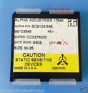 Sc9103 545 Alpha Industries Capacitor Chip Rf Microwave Product 76 units Total
