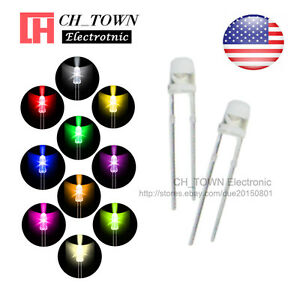 10kinds 1000pcs 3mm Led Diodes Water Clear White Red Blue Purple uv Mix Kits