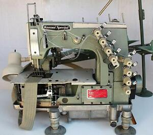 Kansai Special Dfb 1404pmd 4 needle Chainstitch Puller Industrial Sewing Machine