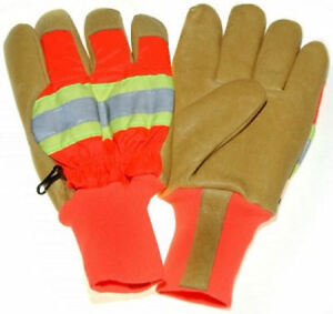 Reflective Leather Gloves 100 Gram 3m Thinsulate Lining Safety Cuff