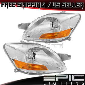 Headlights For 2007 2011 Toyota Yaris Sedan Sport Package Left Right Pair