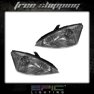 Fits 2000 02 Ford Focus Headlight Headlamp Pair Left Right Set