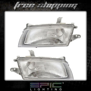 Fits 1997 98 Mazda Protege Headlight Headlamp Pair Left Right Set