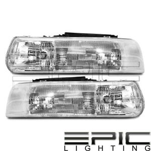 Headlights For 1999 2006 Chevy Suburban Tahoe Silverado Left Right Sides Pair