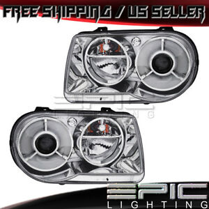 2005 2010 Chrysler 300 300c Halogen Projection Headlights Left Right Pair