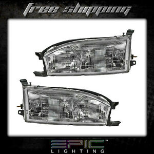 Fits 1992 94 Toyota Camry Headlights Headlamps Pair Left Right