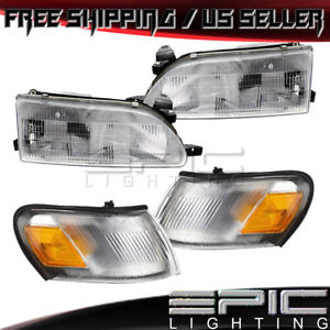 Corner Parking Signal Lights Headlights For 1993 1997 Toyota Corolla Combo Set