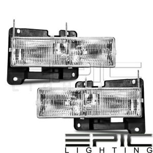 Left Right Sides Pair Head Lamps For 1992 2002 Chevy Blazer Tahoe Gmc Yukon