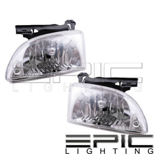 Fits 2000 02 Chevy Cavalier Headlights Headlamps Pair Left Right Set