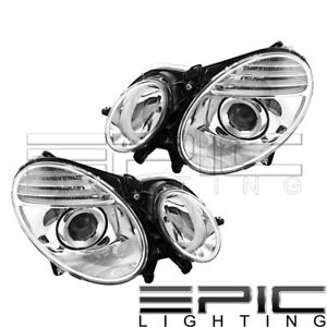 2007 2009 Mercedes Benz E280 E320 E350 E550 E63 Amg Headlights Left Right Pair