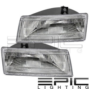 Left Right Pair Head Lamps For 1991 1995 Chrysler Town Country Dodge Caravan