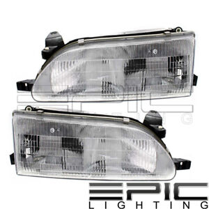 Halogen Headlamps Headlights For 1993 1997 Toyota Corolla Left Right Side Pair