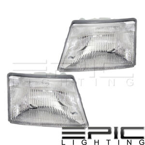 Headlights Headlamps For 1998 2000 Ford Ranger Pickup Left Right Sides Pair