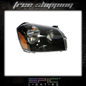 Fits 2005 07 Dodge Magnum W Black Background Headlights Right Passenger Only