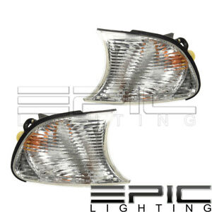 Clear Corner Signal Lights Left Right Pair For 2000 2001 Bmw 323ci 325ci 328ci