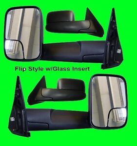 Dodge Ram 1500 2500 1998 1999 2000 2001 Power Heated Tow Side Mirror Pair