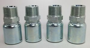 Parker 101hy 16 16 1 Hydraulic Hose Fittings Set Of 4 New free Shipping