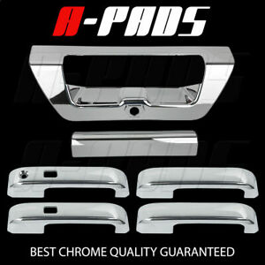 For 2015 Ford F 150 Chrome 4 Door Handle Tailgate Covers With Smart Key