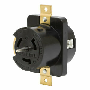 Hubbell Cs 6369l 50 amp 125 250 volt 3 pole 4 wire Twist lock Receptacle