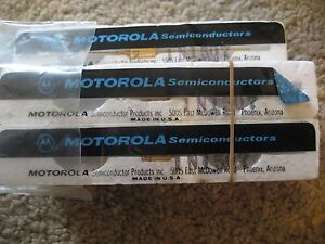 New Vintage Motorola Semiconductor Diode Transistor Lot Of 5 1n1507 Gold Lead
