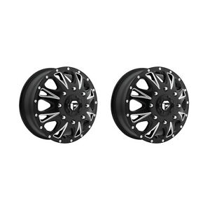 Fuel Offroad D513176582f 17x6 5 Throttle 129 Mm 8x6 5 Black Milled Set Of 2 Rims