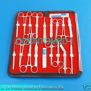 37 Pc Minor Student Dissection Kit Surgery Surgical Veterinary Instruments Kit