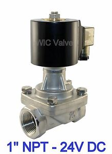 Stainless Zero Differential Electric Steam Hot Water Valve Nc 24v Dc 1 Inch