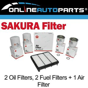 Oil Air Fuel Filter Double Service Kit Fit Triton Ml Mn 4cyl 4d56 2 5l 2008 2016