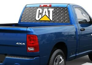 Caterpillar Metall Cat Rear Window Decal Sticker Pick up Truck Suv Car