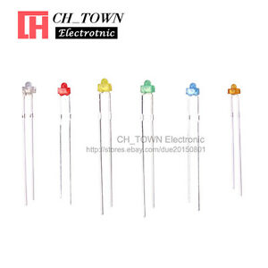6lights 120pcs 1 8mm Diffused Led Diodes White Red Green Blue Yellow Mix Kits