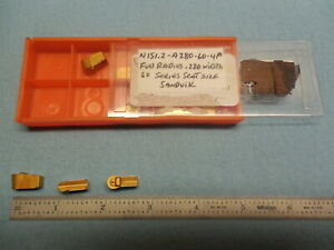 10 Pcs New Snadvik N151 2 A280 60 4p Carbide Grooving Inserts Tooling