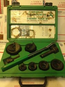 Nos Greenlee Slugbuster 7238sb 1 2 2 Wratcheting Knockout Punch Set 4560