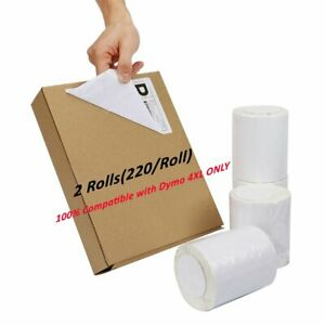 2 Rolls Thermal Shipping Postage Labels Dymo 1744907 Compatible 4 x6 For 4xl
