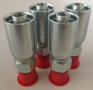 Parker 105hy 8 8 1 2 Hydraulic Hose Fittings Set Of 4 New free Shipping