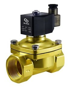 Brass Zero Differential Electric Air Water Solenoid Valve Nc 12v Dc 1 5 Inch
