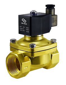 Brass Electric Air Gas Water Solenoid Valve Normally Closed 1 25 Inch 24v Dc