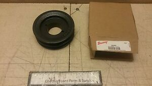 Nos Cast Iron Browning Double Groove Pulley 2ak44h Sheave