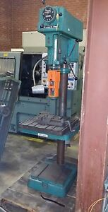 Clausing Variable Speed Drill Model 2274 Tslot Table And Vice