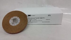 3m 976 1 4 In X 36 Yds Atg Adhesive Transfer Tape 2 0 Mil Carton Of 12 Rolls