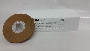 3m 976 1 4 In X 36 Yds Atg Adhesive Transfer Tape 2 0 Mil Carton Of 12 Rol