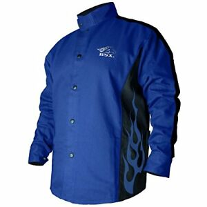 New Welding Coat Roy Blue Black Xl Ee Shipping