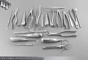 38 Pcs Oral Surgery Dental Extraction Forceps elevators one Rubber Dam Kit