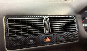 Vw Golf Mk4 3d Black Carbon Fibre Effect Air Vents Tdi Gti R32 Vr6 Ve