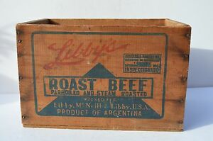 Wonderful Small Size Libbery S Roast Beef Advertising Crate Box Vibrant Colors